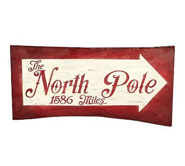 Pottery Barn Ken Fulk by Holiday North Pole Sign Pottery Barn