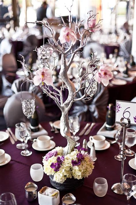 tree branch centerpieces diy manzanita branch centrepiece diy project paint the branches to match your wedding s colour