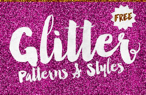 pattern typography download 8 free glitter effect patterns styles for photoshop