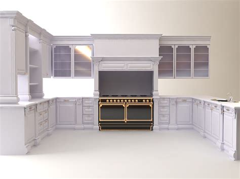 kitchen cabinet 3d kitchen cabinets appliances 3d model max 3ds cgtrader com