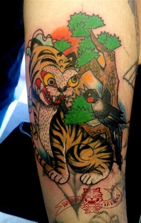 korean tiger tattoo korean tiger and magpie pinit magpie and