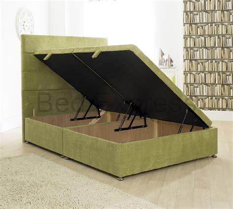 ottoman storage divan bed base 5ft king size luxury ocean fabric ottoman storage base ebay