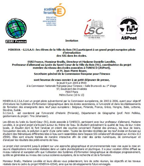 Exemple De Lettre D Invitation Colloque Modele Lettre Invitation Journaliste