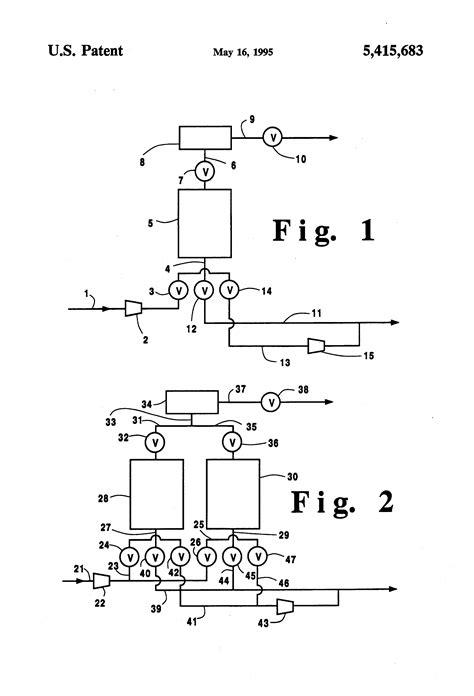 vacuum pressure swing adsorption patent us5415683 vacuum pressure swing adsorption
