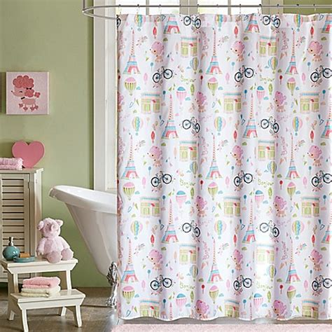 bed bath and beyond kids curtains mi zone kids bonjour shower curtain in pink bed bath