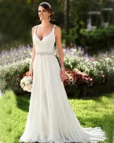 marriage dress for summer wedding dress v neck ivory chiffon wedding dress 2015 cheap backless