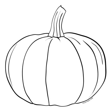 Simple Pumpkin Coloring Pages | simple pumpkin outline clipart panda free clipart images