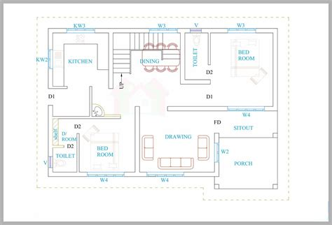 kerala home design floor plan kerala house plans for a 1600 sq ft 3bhk house