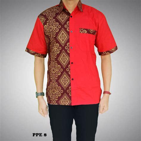 kemeja batik pria kombinasi prada kode ppe 8 batik prasetyo