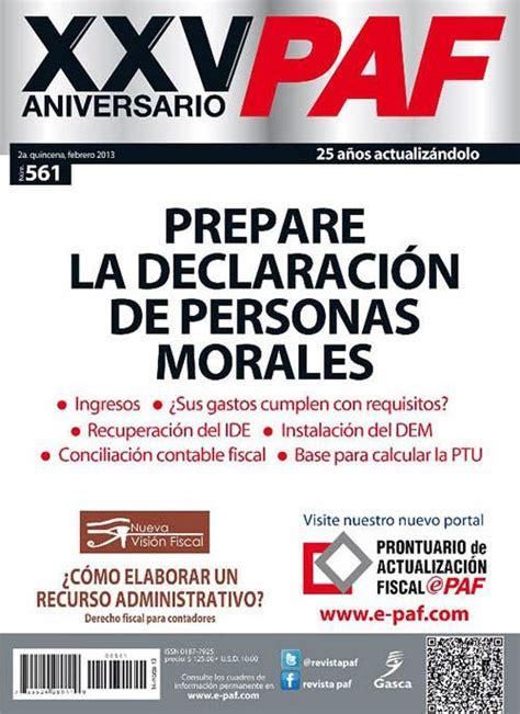 revista paf 2015 declaracion anual personas morales revista paf 561 1 siccopreguntas 2 ingresos de las