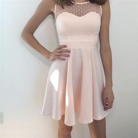 light pink fit and flare dress 54 thml dresses skirts delia s light pink fit and
