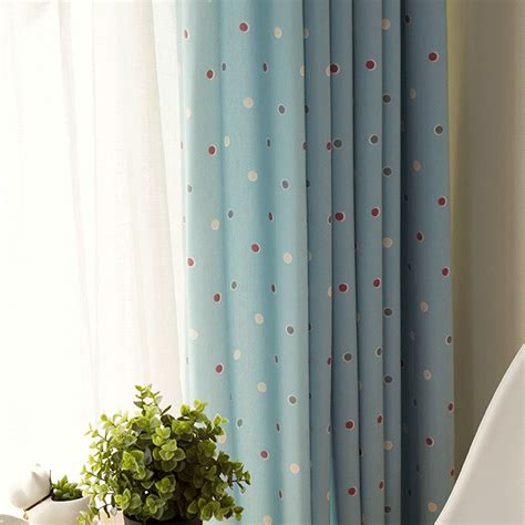 childrens blue blackout curtains kids polka dot curtains best home design 2018