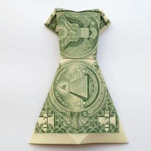 Money Origami Wedding Dress - how to fold money origami or dollar bill origami