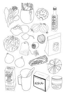 Food Drawing Pen Pencil Makanan Harga drawings of food food pictures colored pencil drawings of foods food drawings food