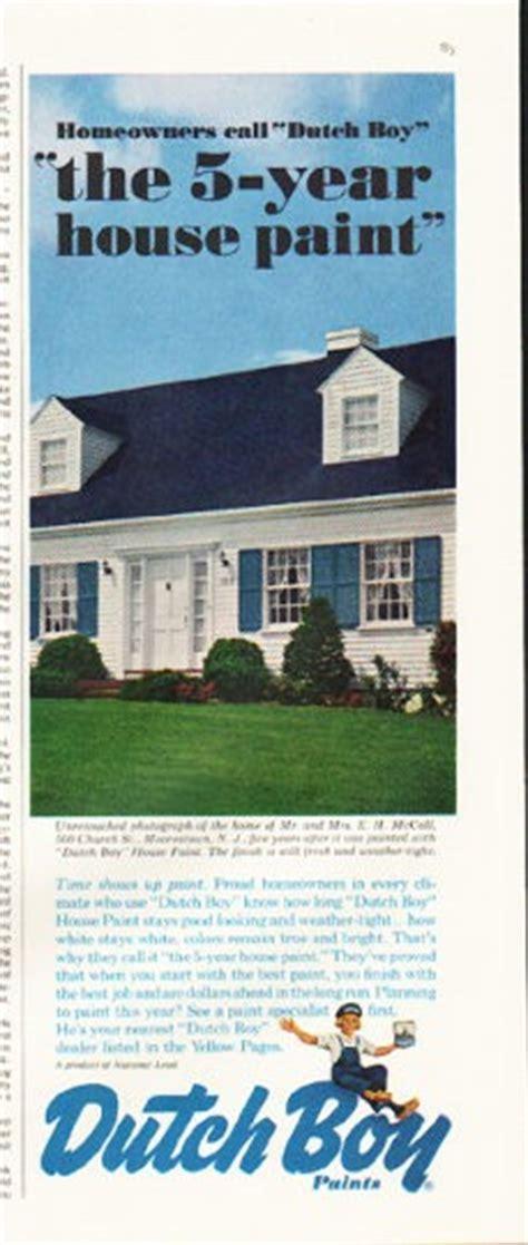 dutch boy paints vintage ad  year house paint