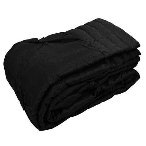 Black Quilted Blanket Fiji Faux Silk Button Quilted Throw Black 140 X 240 Cm