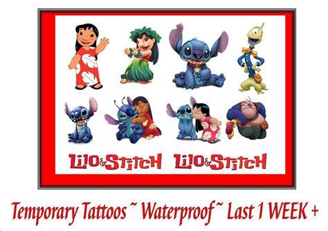 disney temporary tattoos disney inspired lilo stitch temporary tattoos