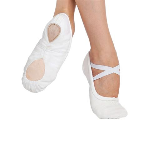 capezio pro canvas ballet shoe white free uk delivery