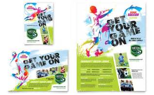 youth soccer flyer amp ad template design