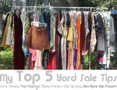 How To Work At Garage Clothing Yard Sale On Yards Garages And Garage Sale Tips