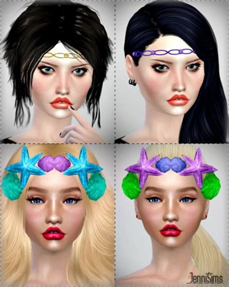 flowers bow headband at jenni sims 187 sims 4 updates head accessory 187 sims 4 updates 187 best ts4 cc downloads