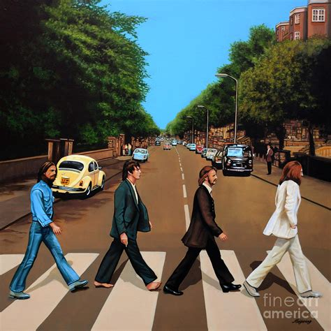 Classic Home Plans by The Beatles Abbey Road Painting By Paul Meijering