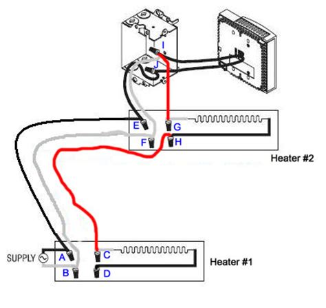 marley electric baseboard heater wiring wiring 2 baseboard heaters to 1 thermostat isolation relay