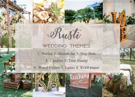 Top 14 Rustic Wedding Themes & Ideas for 2019: Part I