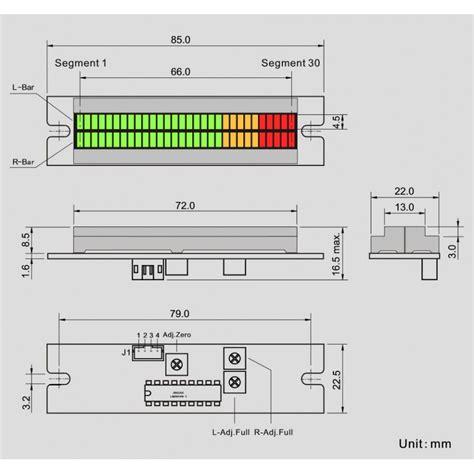 led bar graph resistors led bar graph vu meter dual column to display voltage audiophonics