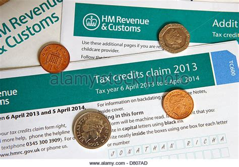 Tax Credit Form Hmrc Hmrc Tax Stock Photos Hmrc Tax Stock Images Alamy