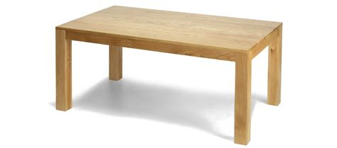 cube solid oak 160 cm dining table quercus living