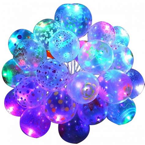 Balon Pesta Helium Led Luminious מוצר 10pcs 12inch luminous led air balloon string lights unique patterns helium balloons