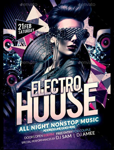 house party flyers design electro house party flyer electro house flyer is perfect and unique party flyer to use