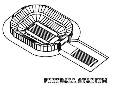 coloring pages football stadium free printable football coloring pages for kids best