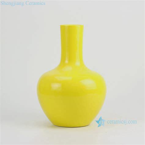 Yellow Ceramic Vase by Rykb134 H13 Solid Bright Yellow Ceramic Vase