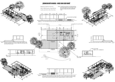 farnsworth house floor plan farnsworth house plan maestri mies pinterest house
