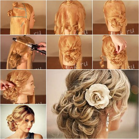Wedding Hairstyles Tutorial by How To Make Carpet Looking Updo Wedding Hairstyle