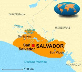 el salvador en el mapa mundi mapa de el salvador