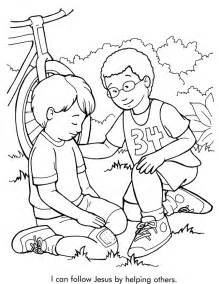 Helping Coloring Pages i can follow jesus by helping others coloring page