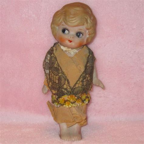 vintage bisque flapper doll vintage kewpie style flapper porcelain bisque doll