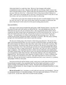 Basc Sample Report Full Psychological Report Sample