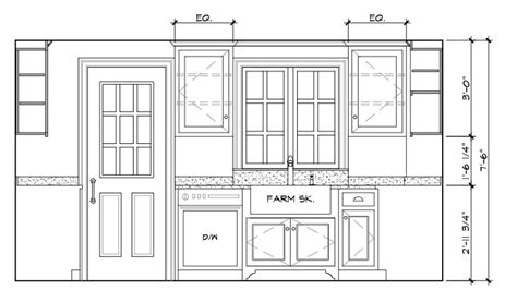 Kitchen Door Elevation The Gallery For Gt Kitchen Elevation Drawing