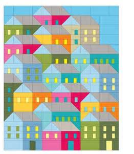 house patterns you have to see hillside houses quilt by terridee