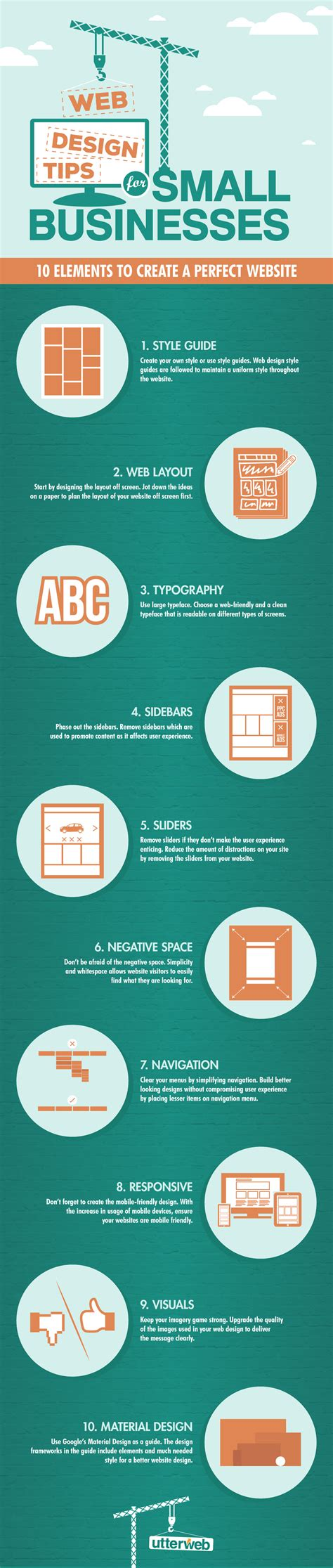 the of small business design a guide to moving from idea to livelihood for the creative curious and strapped books infographic web design tips for small businesses