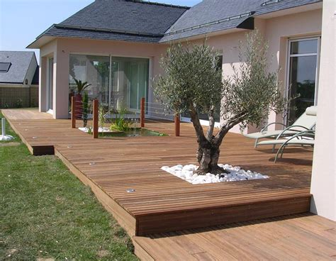 terrasse a tbpe terrasse bois pavage environnement