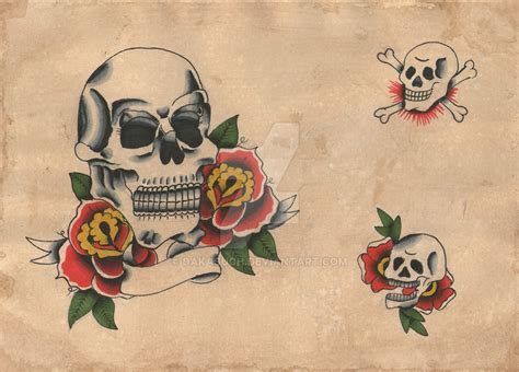 tattoo old school vintage old school tattoo flash skull vintage retro design by