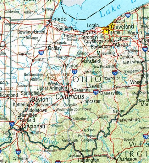 ohio state map with cities ohio map of cities counties state map map of usa states