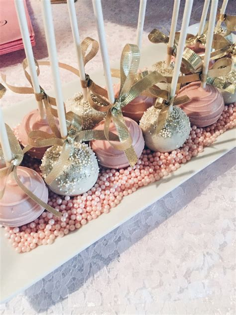 cake pop ideas for bridal shower my pretty pink gold bridal shower y