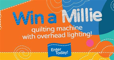 Millie Giveaway - apqs is giving away another millie longarm quilting machine
