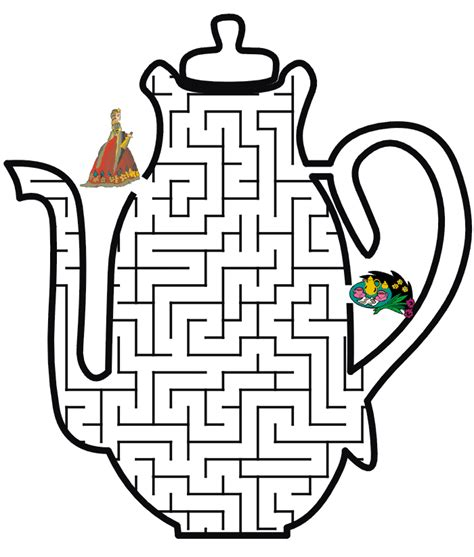 princess maze coloring page princess maze tea time for princess